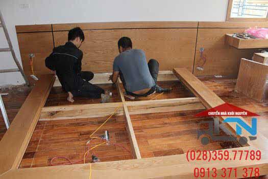 Tháo lắp giường tủ trọn gói tại Long An